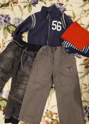 Кофта, брюки, джинсы, реглан на 3-5 года одним лотом