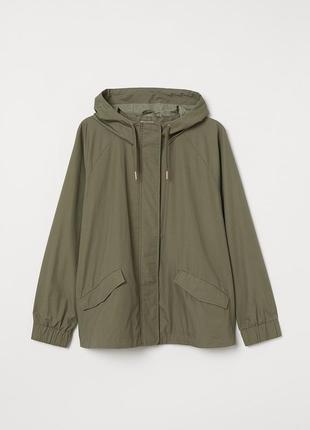 Тонкая куртка парка h&m размер 52-54
