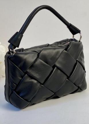 Итальянская кожаная сумка плетёная сумка кроссбоди шкіряна жін...