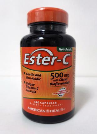 Витамин C American Health Ester-C с биофлавоноидами, 500мг, 120шт