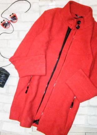 Бомбезное яркое теплое пальто