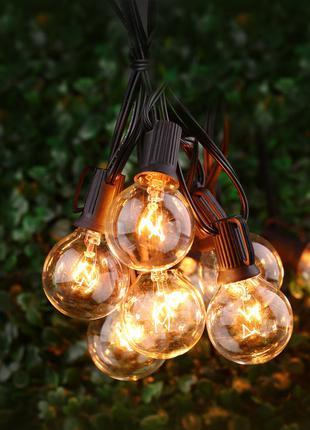 Гирлянда PREMIUM с лампочками G40 7,5 м, 25 ламп стекло