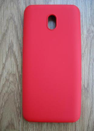 Чехол Xiaomi Redmi 8A Микрофибра Бампер красный