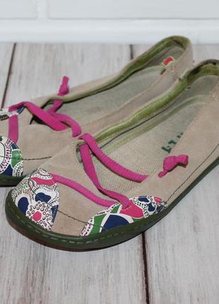 Комфортные кожаные балетки/туфли от camper 37 размер