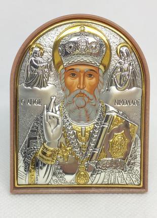 Икона святой николай настольная 71*58 мм