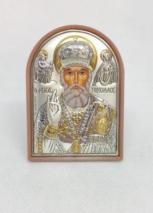 Икона святой николай настольная 58*42 мм