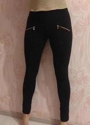 Классные трикотажные лосины брюки miss anna р. 44-46