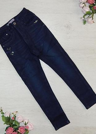 Утепленые джинсы для девочек