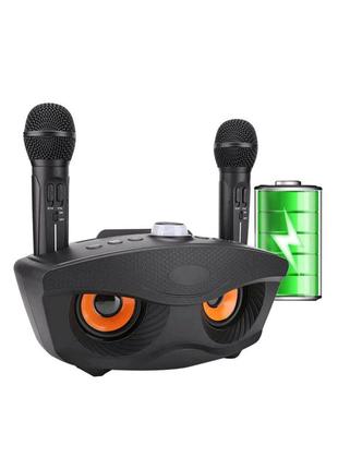 Колонка караоке система на 2 микрофона беспроводных Sd-306