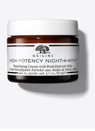 Ночной крем с фруктовыми aha кислотами origins high-potency ni...
