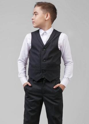 Жилет школьный серый для мальчика zironka зиронька рост 146