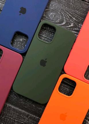 Чехол бампер iPhone 11 12 X 8 Silicone Case