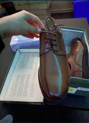 Коричневые кожаные туфли Ara Men
