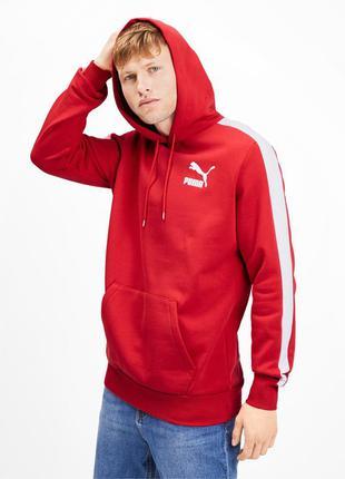 Стильное худи свежие коллекции puma ® iconic t7 men's fleece h...