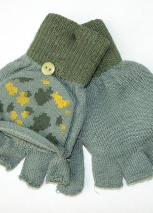 Перчатки митенки без пальцев-варежки terranova