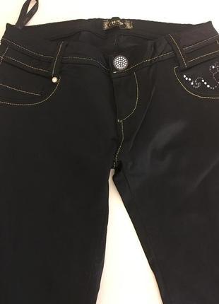 Женские джинсы стрейч черные