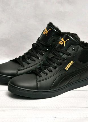 Кожаные зимние ботинки Puma