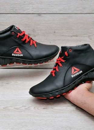 Кожанные зимние мужские ботинки Reebok
