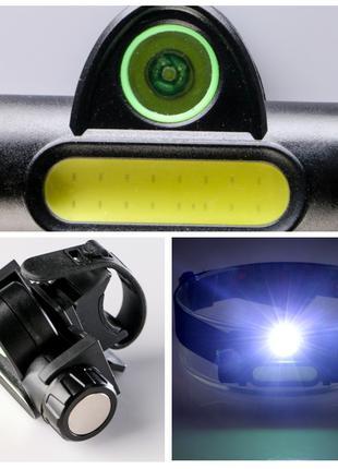Фара на руль велосипеда, налобный фонарик универсальный, USB, led