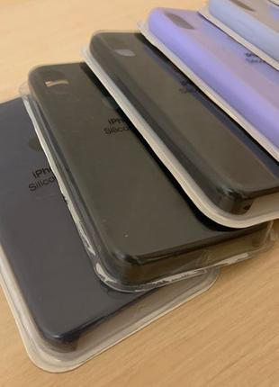 Apple silicone case / продам 6 чехлов на айфон