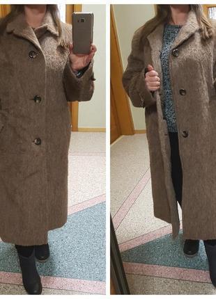 Теплое шерстяное пальто большого размера lluma haar