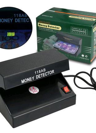 Детектор валют ультрафиолетовый AD-118AB УФ лампа для денег