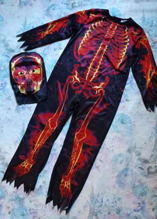 Карнавальный костюм скелета,огненный скелет, скелет