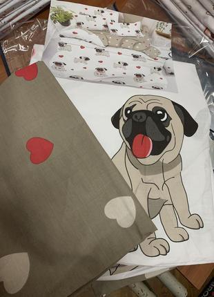 Постельное белье собачка в наличии бязь