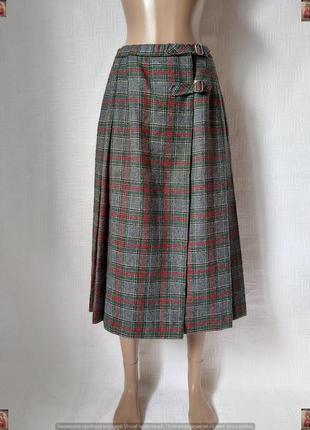 Новая мега теплая юбка миди плиссе на запах со 100 % шерсти в ...