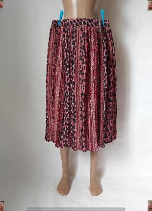 Новая с биркой нарядная юбка миди в мелкую густую плиссе в мел...