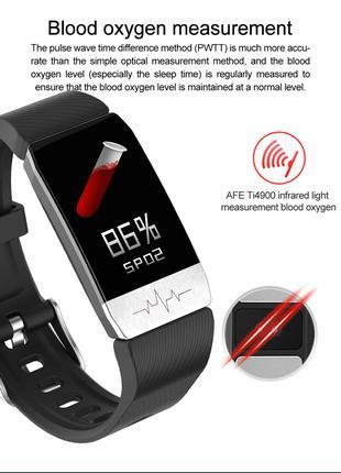 Пульсоксиметр - браслет с измер. сатурации, пульса, давл.,ЭКГ,сна