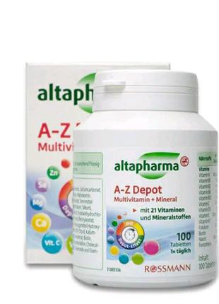 Мультивитамины и минералы A-Z Depot Altapharma 100 т.