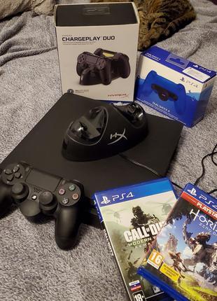 Playstation 4 slim 500 gb +аксесуари +2 диска подарунок