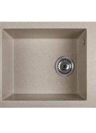 Каменная кухонная мойка Ventolux AMORE (Brown SAND) 500x400x200