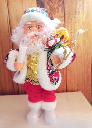 Іграшка Музичний Санта Новогодняя игрушка музыкальный Дед Мороз