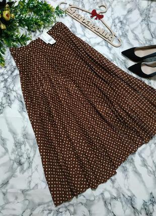 Плссированная юбка в горошек