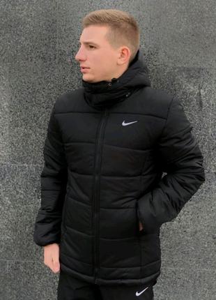 """Зимняя Куртка Nike """"Европейка"""" черный"""