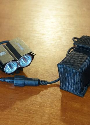 Велофара SolarStorm с аккумулятором сова/чебурашка, диоды XM-L Т6