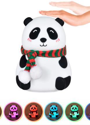 """Детский силиконовый светильник ночник """"Панда"""""""