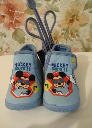 Детские слипоны мокасины disney mickey mouse