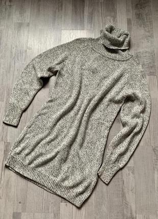 Свитер удлинённый платье-свитер