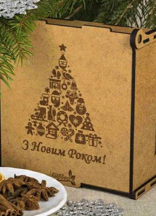 Подарок на новый год. Подарочный набор чая Новорічна ялинка