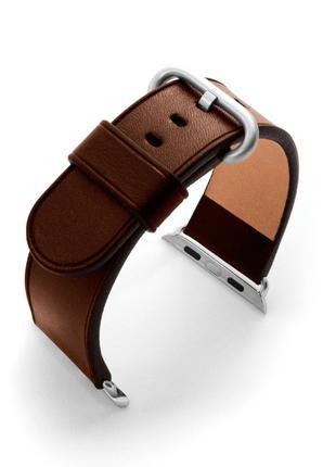 Темно-коричневый ремешок для Apple Watch из итальянской кожи