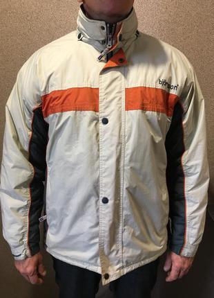 Светлая зимняя куртка с утеплителем с капюшоном мужская тёплая