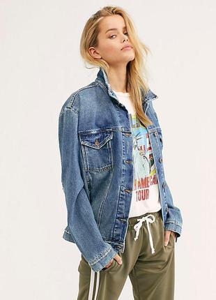 Оверсайз джинсовая куртка free people