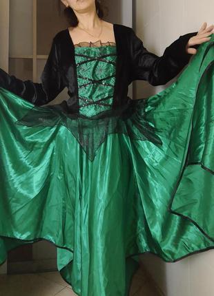 Карнавальный костюм платье ведьмы на хэллоуин