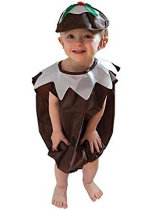 Новогодний рождественский костюм детский пудинг 2–3 года