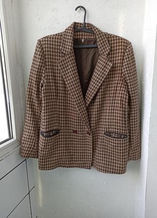 Шерстяной жакет пиджак блейзер