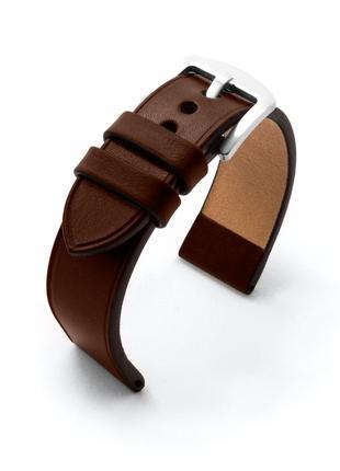 Темно-коричневый ремешок для часов из итальянской кожи на заказ