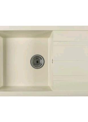 Кухонная гранитная мойка Ventolux DIAMANTE (CREMA) 765x485x200